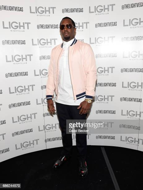 Sean 'Diddy' Combs aka Puff Daddy arrives at the Light Nightclub at the Mandalay Bay Resort and Casino on May 21 2017 in Las Vegas Nevada