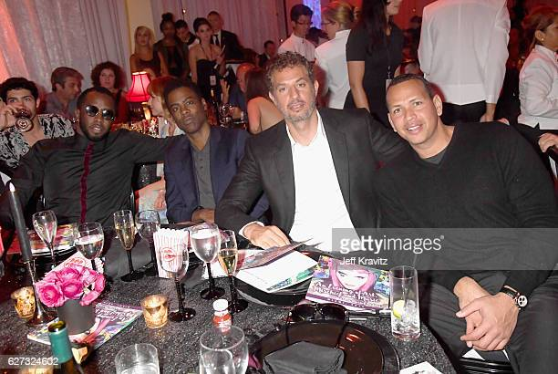 Sean Diddy Combs aka Puff Daddy Chris Rock Guy Oseary and Alex Rodriguez attend Madonna presents An Evening of Music Art Mischief and Performance to...