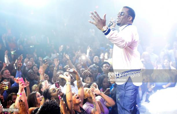 Sean 'Diddy' Combs aka Puff Daddy performs at the Light Nightclub at the Mandalay Bay Resort and Casino on May 21 2017 in Las Vegas Nevada