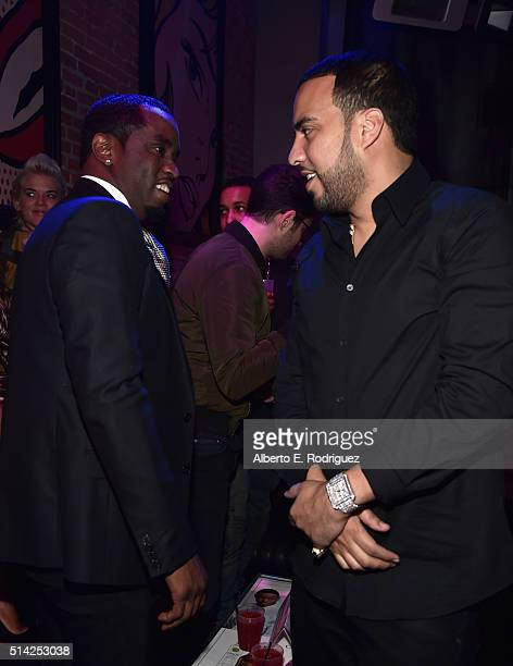 Sean 'Diddy' Combs and actor/rapper French Montana attend the premiere of Lionsgate's 'The Perfect Match' attend the after party for the premiere of...