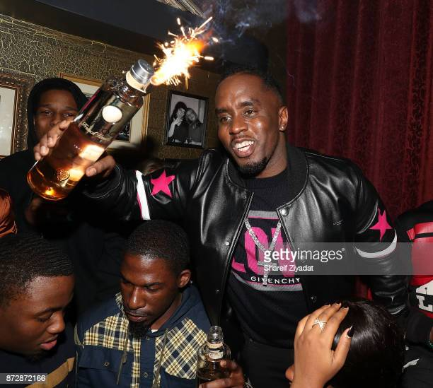 Sean Diddy Combs and Asap Rocky attend Victor Cruz Birthday Celebration on November 10 2017 in New York City