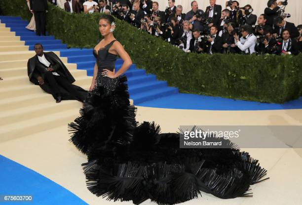 Sean Diddy Combs and Cassie attend the Rei Kawakubo/Comme des Garcons Art Of The InBetween Costume Institute Gala at Metropolitan Museum of Art on...
