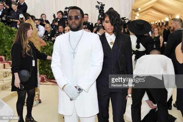 Sean Diddy Combs and Cassie attends the Heavenly Bodies Fashion The Catholic Imagination Costume Institute Gala at The Metropolitan Museum of Art on...