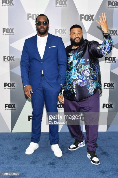 Sean Diddy Combs and DJ Khaled attend the 2018 Fox Network Upfront at Wollman Rink Central Park on May 14 2018 in New York City