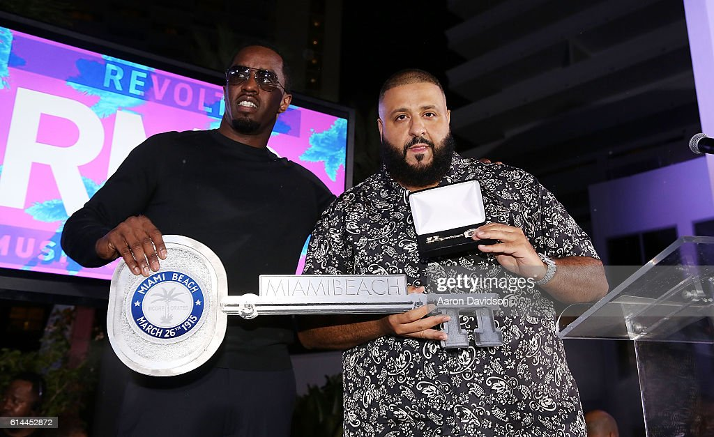 Sean Diddy Combs And DJ Khaled Kick-Off Revolt Music Conference : News Photo