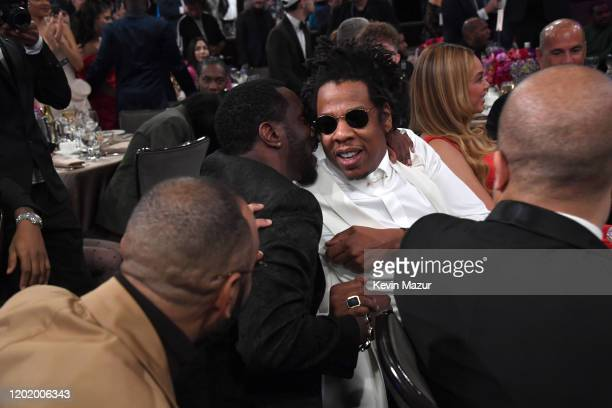 "Sean 'Diddy' Combs and Jay-Z attend the Pre-GRAMMY Gala and GRAMMY Salute to Industry Icons Honoring Sean ""Diddy"" Combs on January 25, 2020 in..."