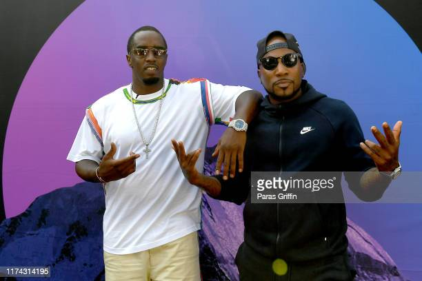 """Sean """"Diddy"""" Combs and Jeezy attend day 1 of REVOLT Summit x AT&T Summit on September 12, 2019 in Atlanta, Georgia."""