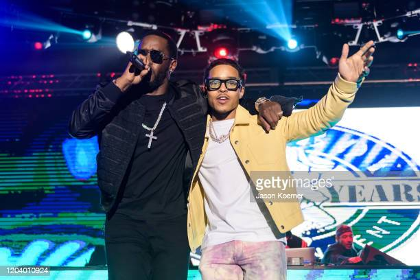 Sean Diddy Combs and Justin Combs perform onstage during Shaq's Fun House at Mana Wynwood Convention Center on January 31 2020 in Miami Florida