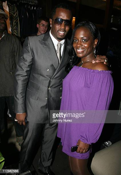 Sean Diddy Combs and Keisha Combs attends Sean John Womens Line Launch Party Inside on October 19 2007 in New York City