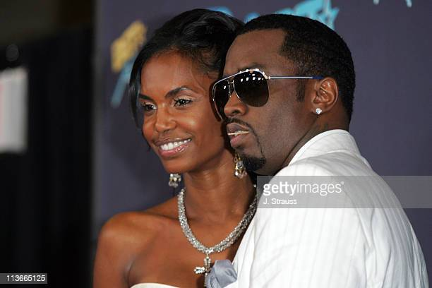Sean Diddy Combs and Kim Porter during 2006 BET Awards Press Room at The Shrine in Los Angeles California United States