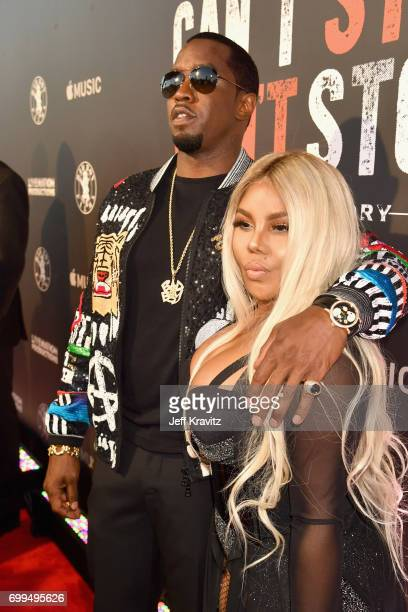 """Sean """"Diddy"""" Combs and Lil' Kim attend the Los Angeles Premiere of Apple Music's CAN'T STOP WON'T STOP: A BAD BOY STORY at The WGA Theater on June..."""