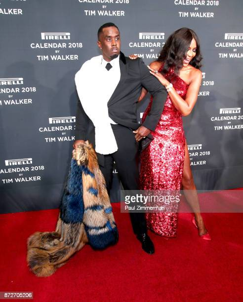 Sean 'Diddy' Combs and Naomi Campbell attend Pirelli Calendar 2018 Launch Gala at The Manhattan Center on November 10 2017 in New York City