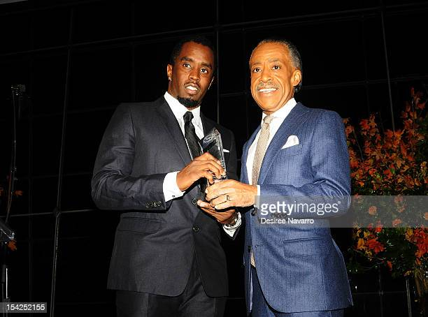 Sean 'Diddy' Combs and Reverend Al Sharpton attend the 3rd annual Nation Action Network Triumph Awards at the Rose Theater Jazz at Lincoln Center on...