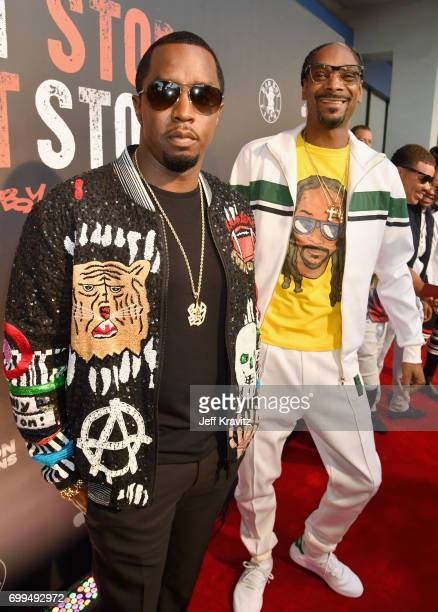 Sean 'Diddy' Combs and Snoop Dogg attend the Los Angeles Premiere of Apple Music's CAN'T STOP WON'T STOP A BAD BOY STORY at The WGA Theater on June...