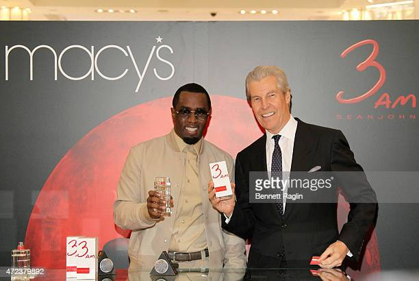 Sean Diddy Combs and Terry Lundgren CEO of Macy's attend the launch of 3am Fragrance at Macy's Herald Square on May 6 2015 in New York City