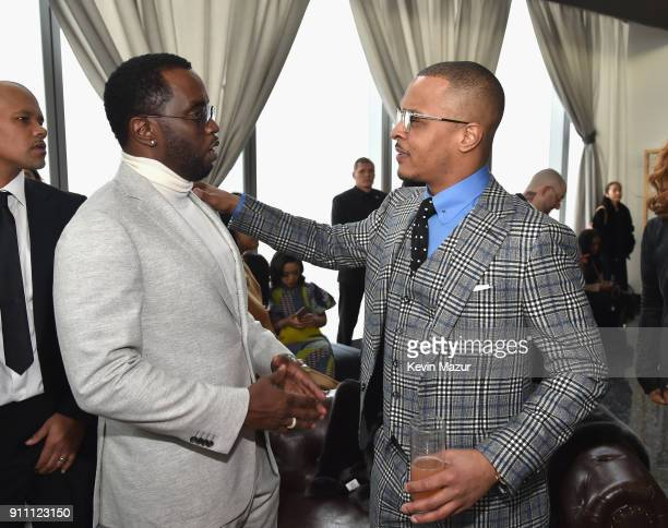 Sean 'Diddy' Combs and TI attend Roc Nation THE BRUNCH at One World Observatory on January 27 2018 in New York City