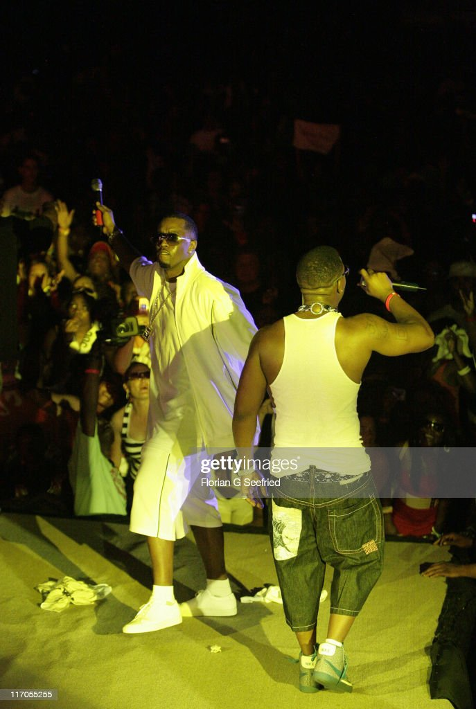 Sean 'Diddy' Combs and Yung Joc during Radio One Spring Fest Concert - April 28, 2007 at Radio One Spring Fest - Concert in Miami, Florida, United States.