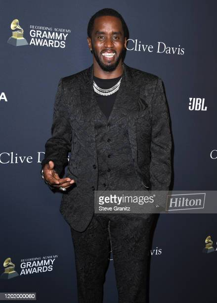 """Sean """"Diddy"""" Combs arrives at the Pre-GRAMMY Gala and GRAMMY Salute to Industry Icons Honoring Sean """"Diddy"""" Combs at The Beverly Hilton Hotel on..."""