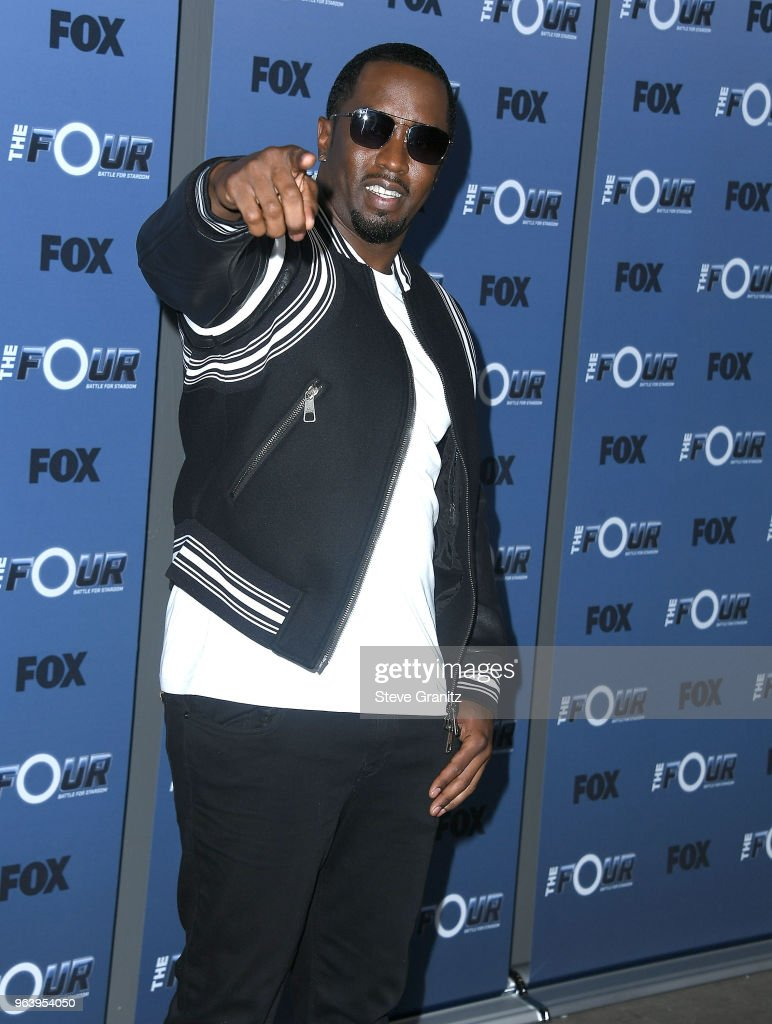 Sean 'Diddy' Combs arrives at the Premiere Of Fox's 'The Four: Battle For Stardom' Season 2 at CBS Studios - Radford on May 30, 2018 in Studio City, California.