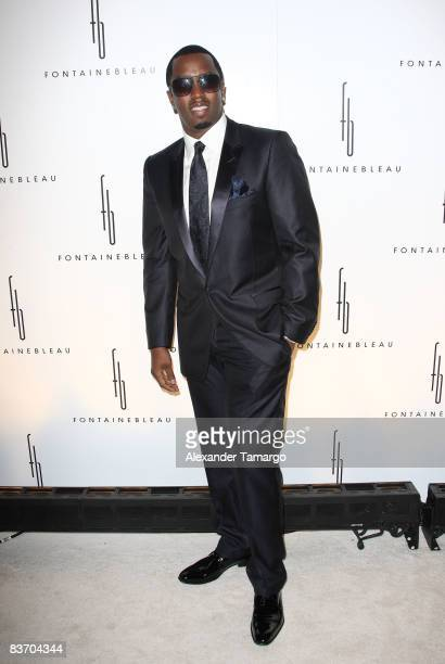 Sean Diddy Combs arrives for the grand opening of Fontainebleau Miami Beach on November 14 2008 in Miami Beach Florida