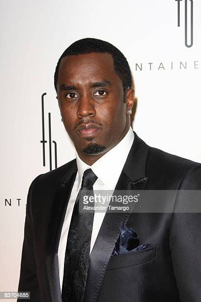 """Sean """"Diddy"""" Combs arrives for the grand opening of Fontainebleau Miami Beach on November 14, 2008 in Miami Beach, Florida."""
