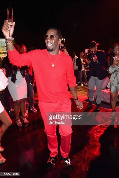 Sean Diddy Combs at the world premiere of Can't Stop Won't Stop at the official after party powered by CIROC Vodka and Deleon Vodka at a private...
