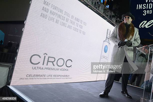 Sean Diddy Combs attends CIROC Step Into The Circle Launch hosted by Sean Diddy Combs in Times Square on November 19 2014 in New York City