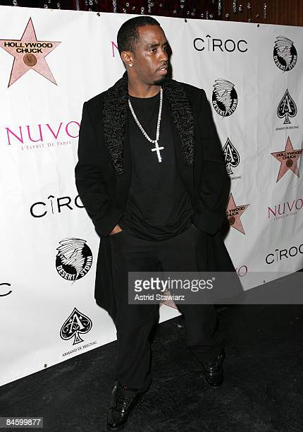 Sean Diddy Combs attends DJ Clue's and Valeesha Butterfield's birthday parties at M2 Ultra Lounge on February 2 2009 in New York City