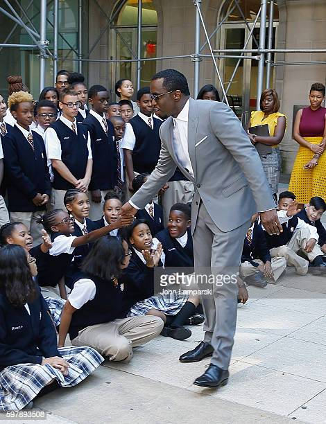 "Sean ""Diddy"" Combs attends his Charter School opening at Capital Preparatory Harlem Charter School on August 29, 2016 in New York City."