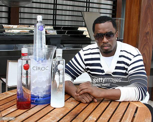 Sean Diddy Combs attends press conference for Ciroc Vodka at Fontainebleau Miami Beach on December 1 2009 in Miami Beach Florida