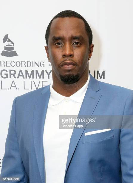 Sean Diddy Combs attends Reel To Reel Cant Stop Won't Stop A Bad Boy Story at The GRAMMY Museum on October 4 2017 in Los Angeles California