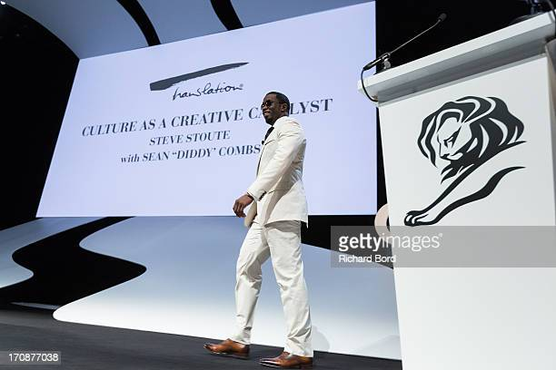 Sean 'Diddy' Combs attends the 'Culture as a Creative Catalyst' Seminar at the Palais des Festivals during the 60th Cannes Lions International...