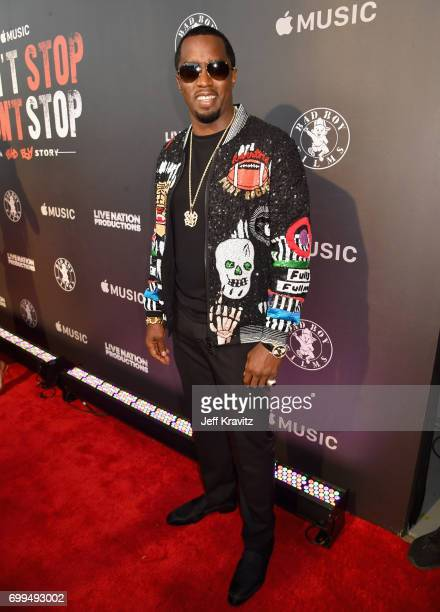 Sean 'Diddy' Combs attends the Los Angeles Premiere of Apple Music's CAN'T STOP WON'T STOP A BAD BOY STORY at The WGA Theater on June 21 2017 in...