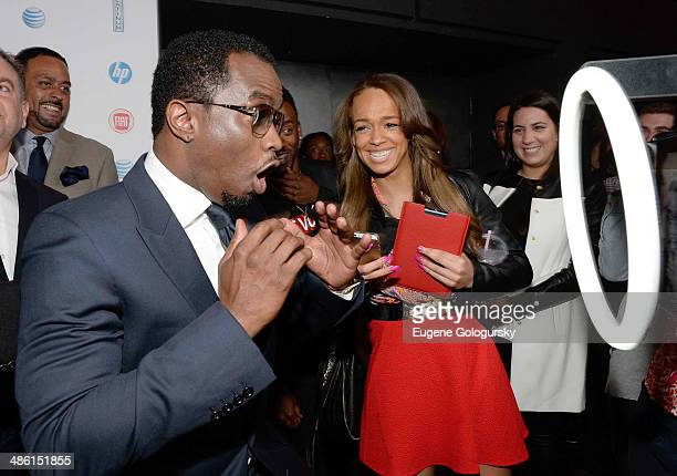 Sean 'Diddy' Combs attends the Revolt TV 2014 Upfront presentation at Marquee on April 22 2014 in New York City