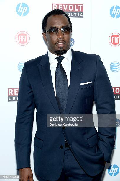 Sean 'Diddy' Combs attends the REVOLT TV First Annual Upfront presentation at Marquee on April 22 2014 in New York City