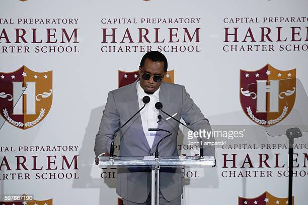 "Sean ""Diddy"" Combs attends the Sean ""Diddy"" Combs Charter School opening at Capital Preparatory Harlem Charter School on August 29, 2016 in New York..."