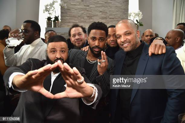 Sean 'Diddy' Combs DJ Khaled Big Sean and CoFounder and CEO of Roc Nation Jay Brown attend Roc Nation THE BRUNCH at One World Observatory on January...