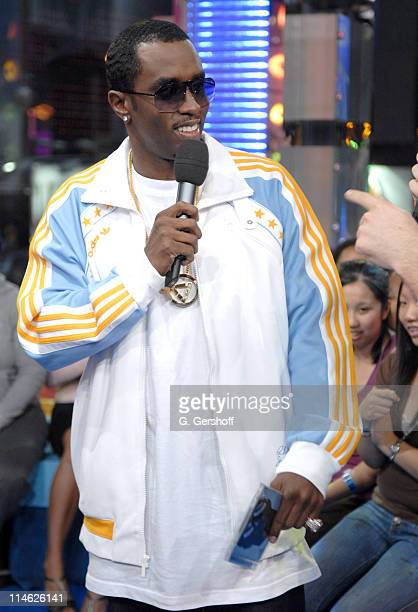 Sean 'Diddy' Combs during Sean 'Diddy' Combs and JoJo Visit MTV's TRL October 17 2006 at MTV Studios in New York City New York United States