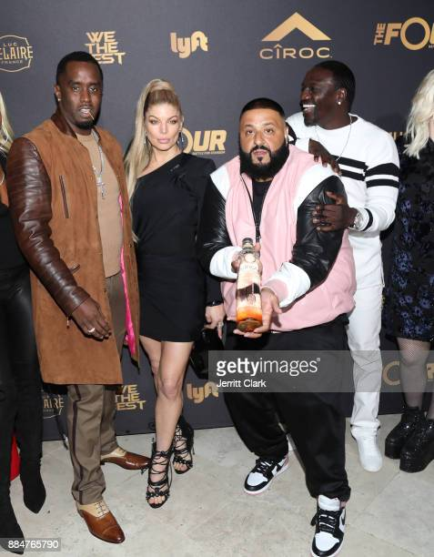 Sean 'Diddy' Combs Fergie DJ Khaled and Akon attend The Four cast Sean Diddy Combs Fergie and Meghan Trainor Host DJ Khaled's Birthday Presented by...