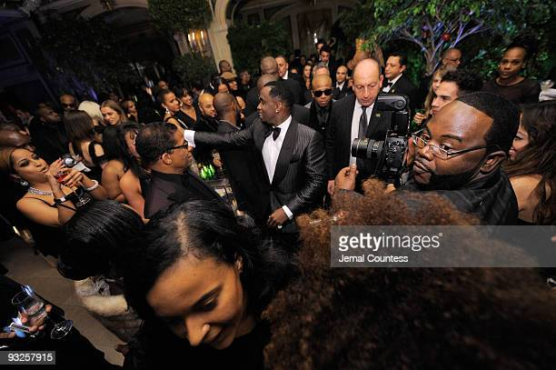Sean Diddy Combs greets guest at the Sean Diddy Combs' Birthday Celebration Presented by Ciroc Vodka at The Grand Ballroom at The Plaza Hotel on...