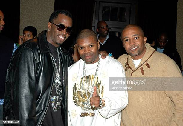 Sean Diddy Combs J Prince and Kevin Liles during Kevin Liles AllStar Weekend Dinner February 18 2006 at Victor Anthony's Restaurant in Houston Texas...