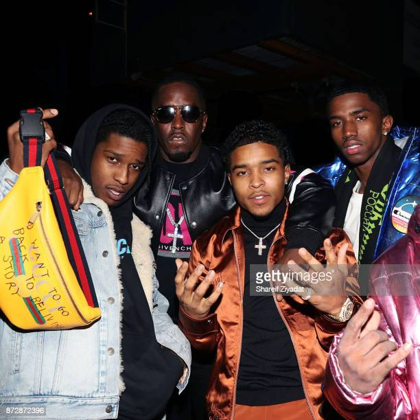 Sean Diddy Combs Justin Combs Christian Combs and Asap Rocky attend Victor Cruz Birthday Celebration on November 10 2017 in New York City