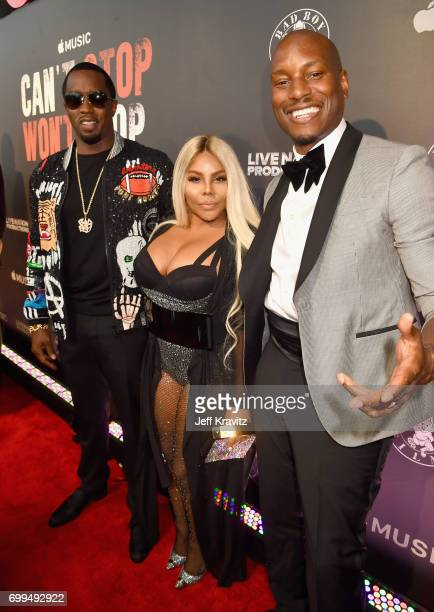 """Sean """"Diddy"""" Combs, Lil' Kim and Tyrese Gibson attend the Los Angeles Premiere of Apple Music's CAN'T STOP WON'T STOP: A BAD BOY STORY at The WGA..."""