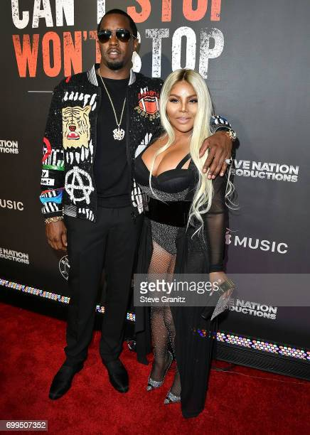 """Sean 'Diddy' Combs, Lil' Kim arrives at the Los Angeles Premiere Of """"Can't Stop Won't Stop"""" at Writers Guild of America, West on June 21, 2017 in Los..."""