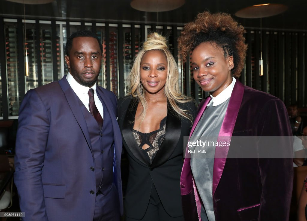 Sean 'Diddy' Combs, Mary J. Blige, and Dee Rees attend the ceremony honoring Mary J. Blige with a Star on The Hollywood Walk of Fame on on January 11, 2018 in Hollywood, California.