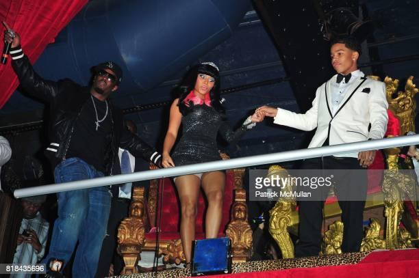 Sean 'Diddy' Combs Nicki Minaj and Justin Dior Combs attend JUSTIN DIOR COMBS celebrates Sweet Sixteenth Birthday at M2 Ultra Lounge on January 23...