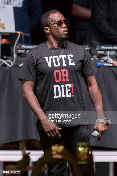 Sean Diddy Combs performs during the Bring It Home Midnight Rally at Lawson Center on the campus of Florida AM University on November 5 2018 in...