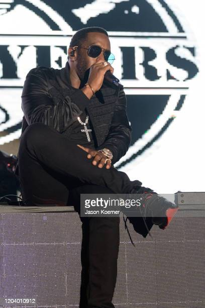 Sean Diddy Combs performs onstage during Shaq's Fun House at Mana Wynwood Convention Center on January 31 2020 in Miami Florida