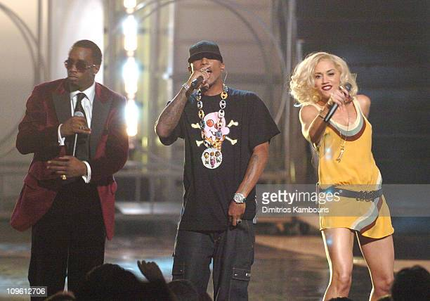 Sean 'Diddy' Combs Pharrell Williams and Gwen Stefani at Conde Nast's 2005 Fashion Rocks Show