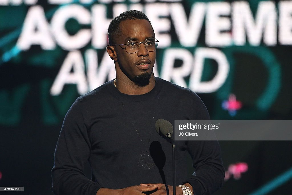 Sean 'Diddy' Combs speaks on stage during the 2015 BET Awards on June 28, 2015 in Los Angeles, California.